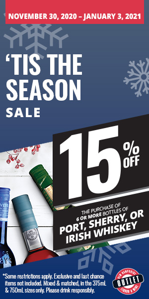 December 2020 Sale - 15% Off 6 Bottle of More of Port, Sherry, & Irish Whiskey