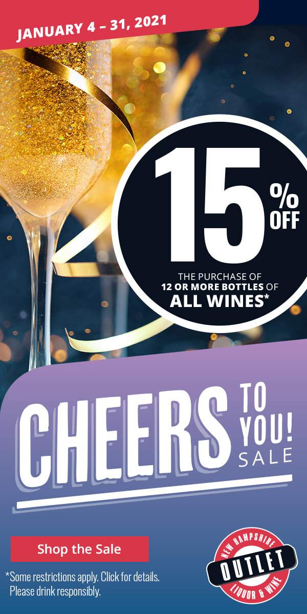Sales and Promos 15% off the purchase of 12 or more bottles of all wines.